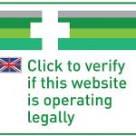 EU-Logo zur Überprüfung der Legalität einer Website